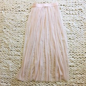 H&M Sheer Maxi Skirt
